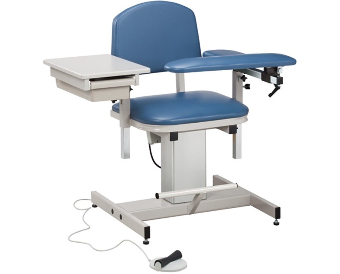 Power Series, Blood Drawing Chair with Padded Flip Arm and Drawer CLI6342