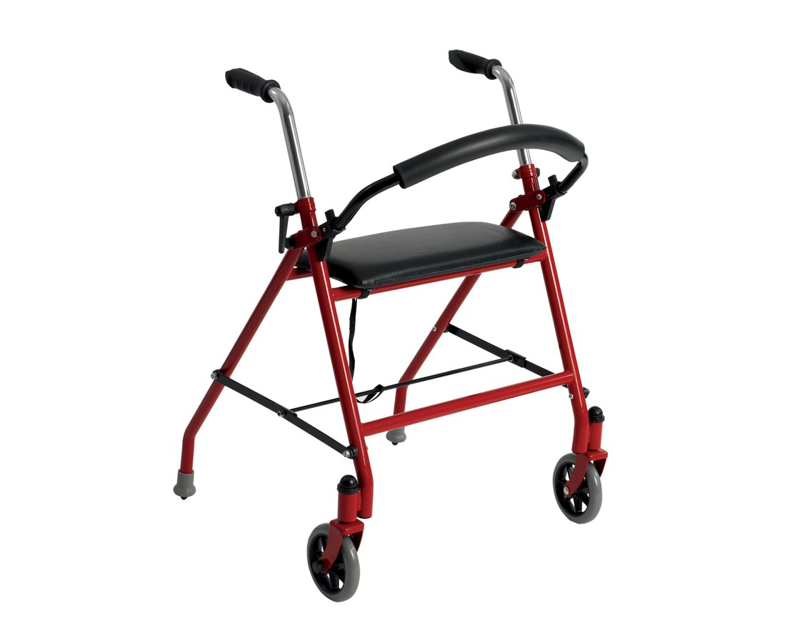 Two Wheeled Walker with Seat DRI1239BL