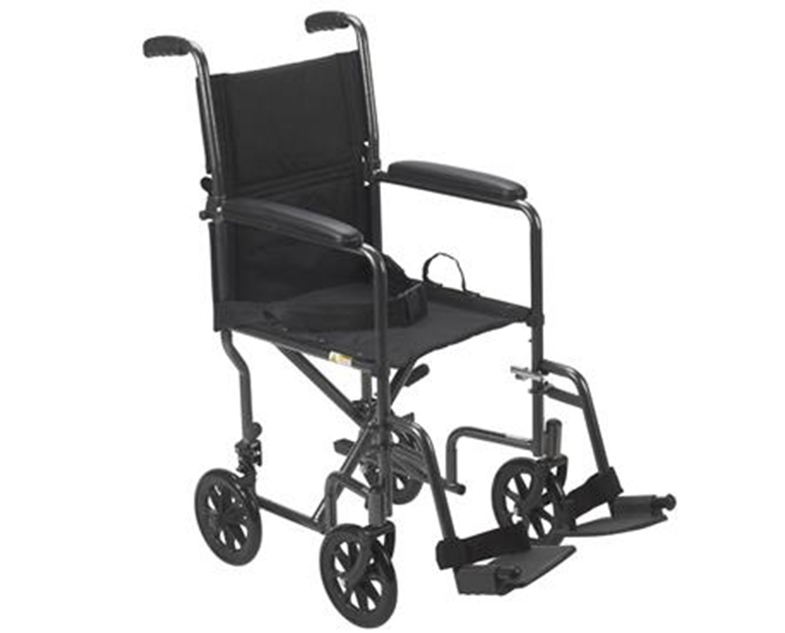 Steel Transport Chair DRITR37E-SV-