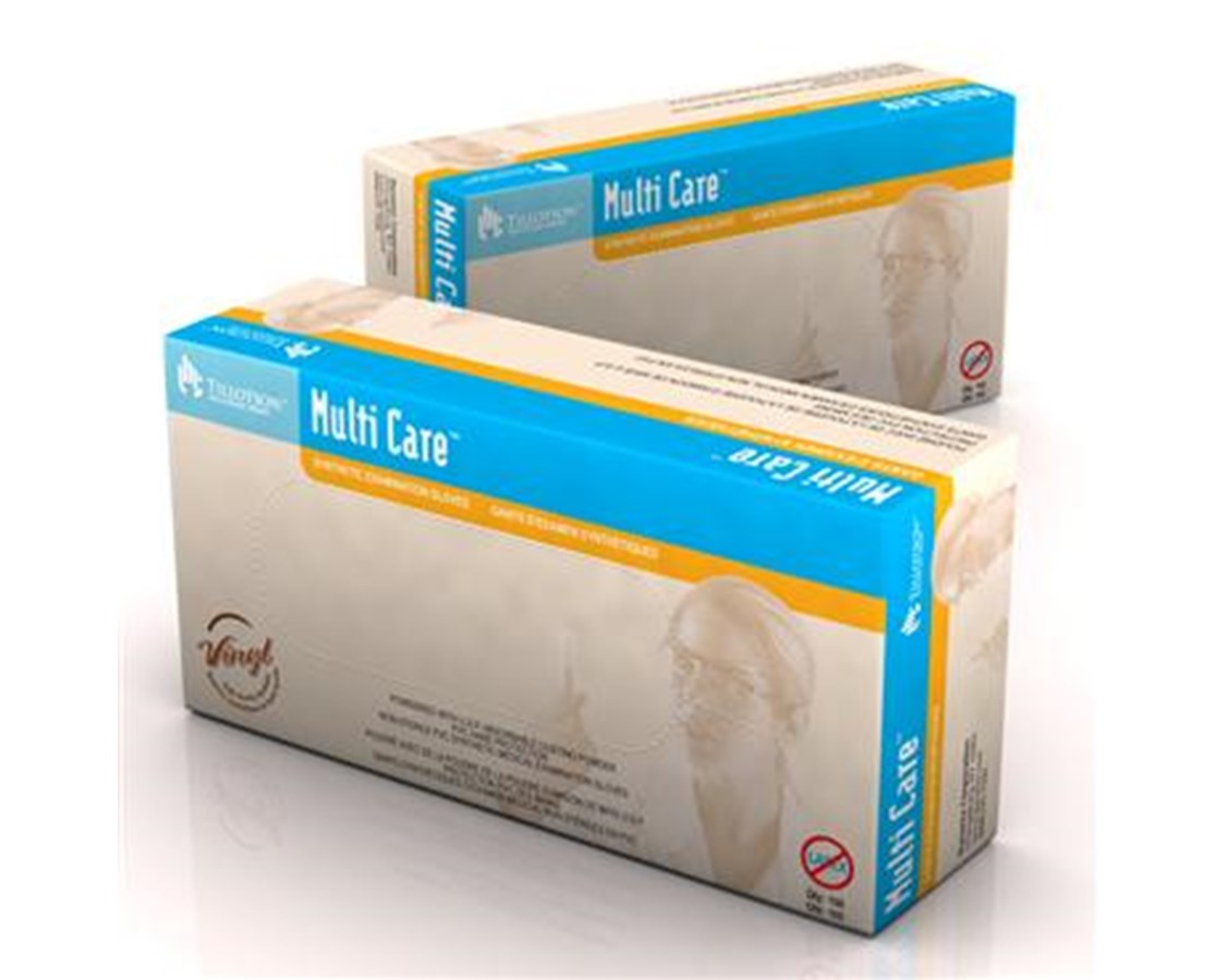 MultiCare Vinyl Exam Gloves, Lightly Powdered