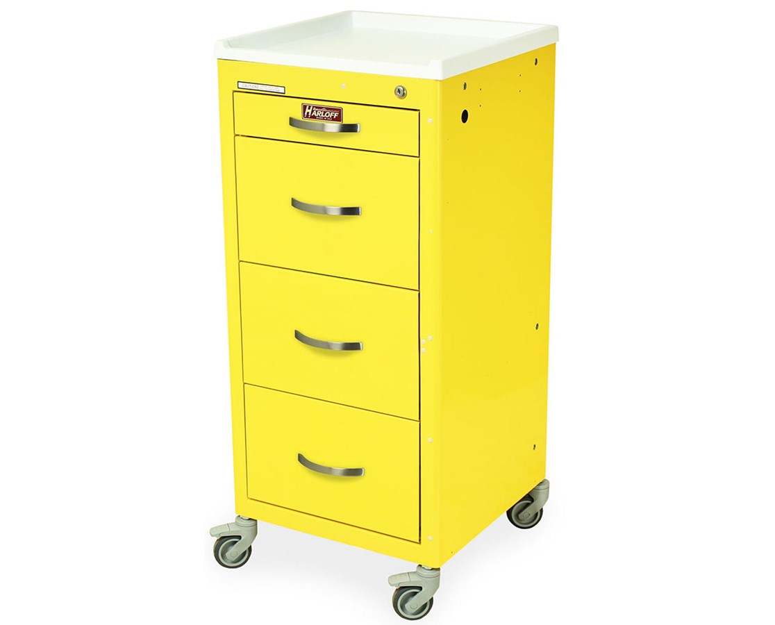 Mini Line Four Drawer Infection Control Cart HAR3154K-