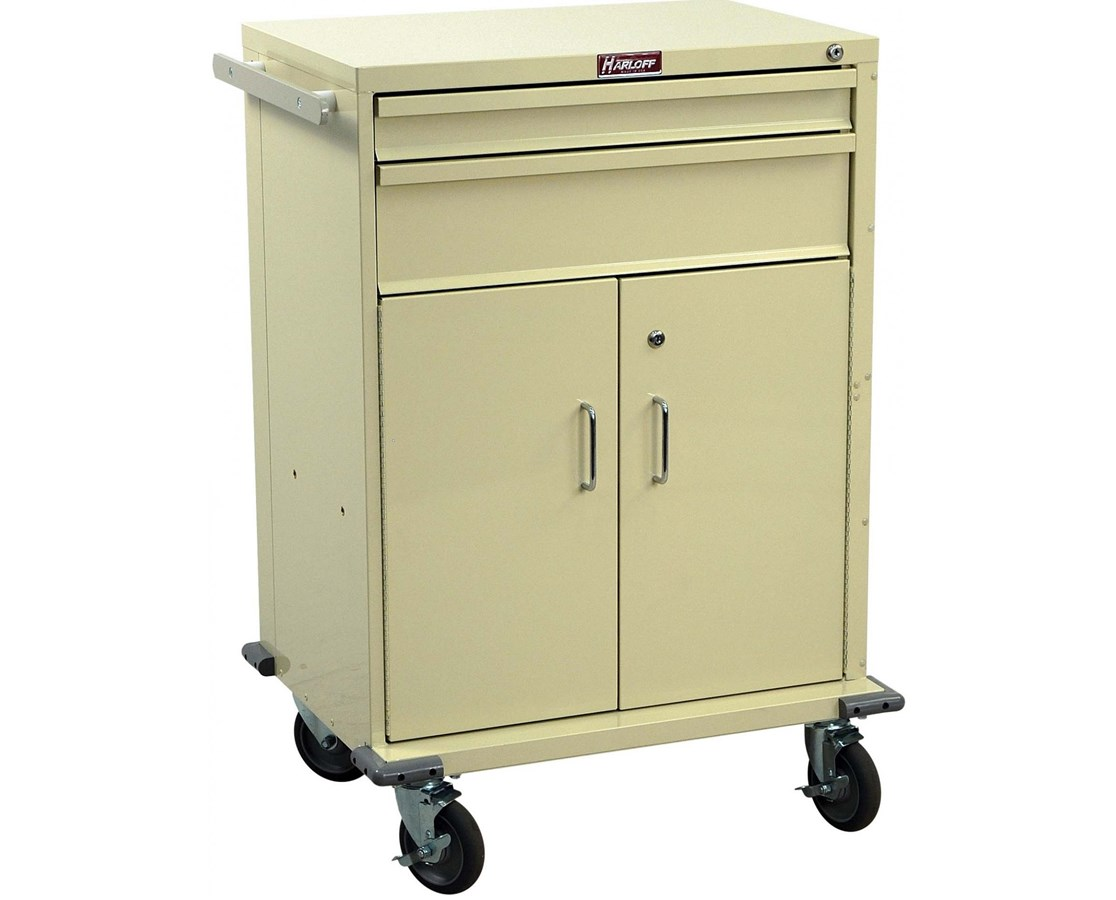 V-Series Two Drawer Cart with Storage Compartment HARV30-2K-