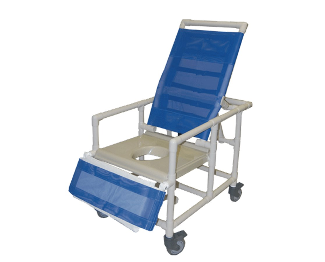 Handicap shower chairs pvc reclining shower commode chairs - Pvc Bariatric Reclining Shower Commode Chair 500 Lb Capacity Hmpcs400w5 Vac 500