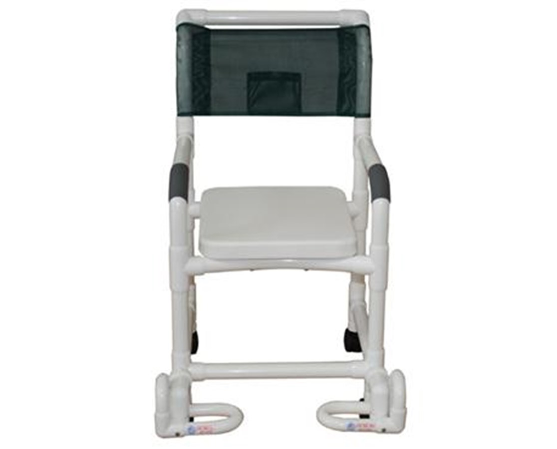 MJM118-3-SSC-IF Soft Seat Shower Chair with Individual Footrest