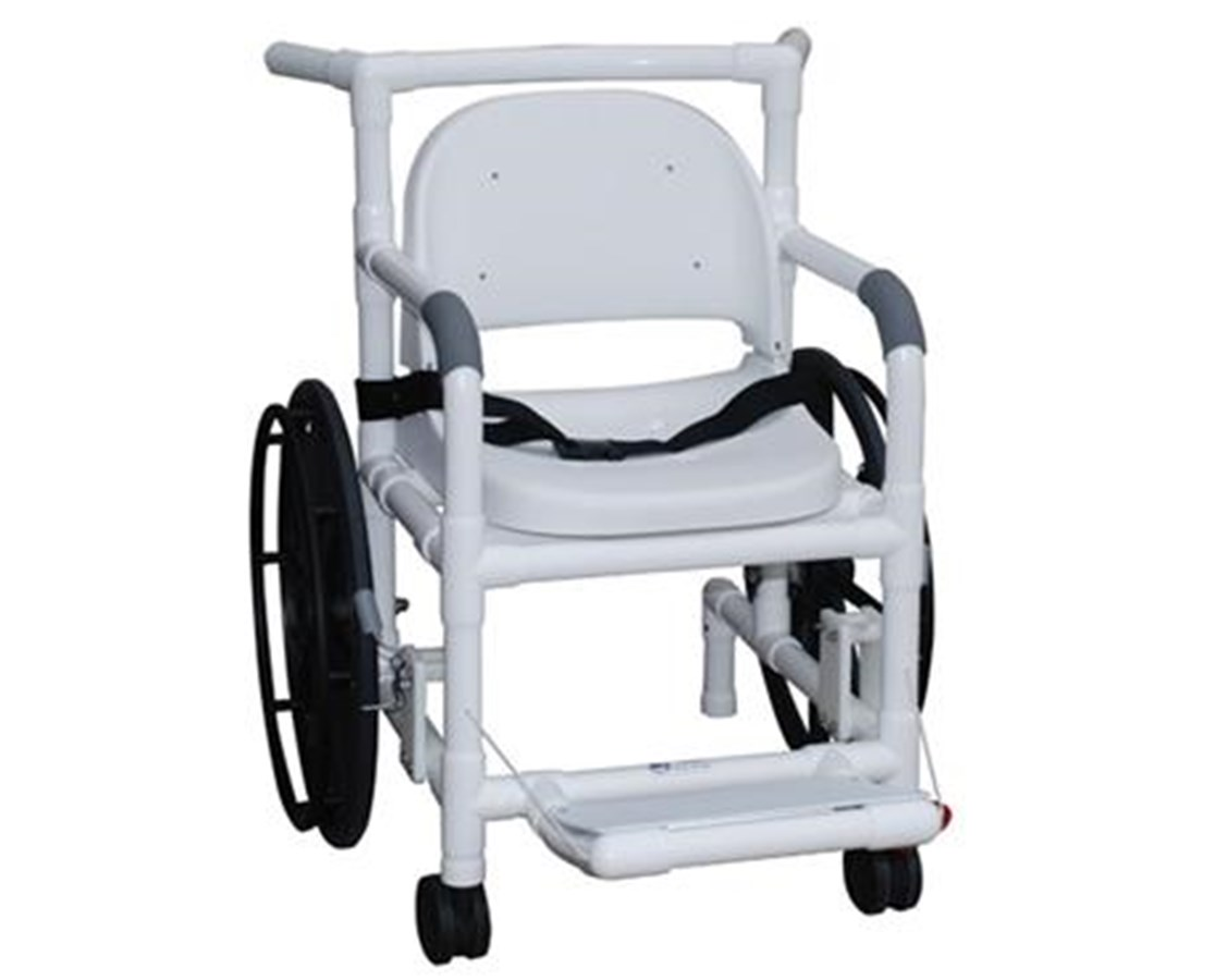 "MJM 131-18-24W-FS-MRI, 18"" Non Magnetic Self Propelled Aquatic Rehab Transport Chair With Support Seat"