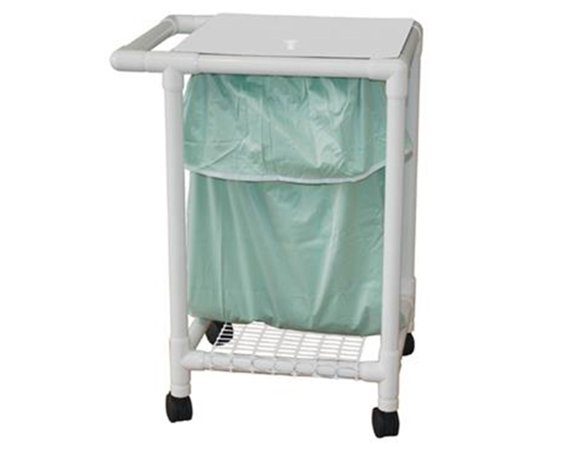 MJM 214-S-LP-FP Single Hamper with Leak-Proof Bag and Footpedal