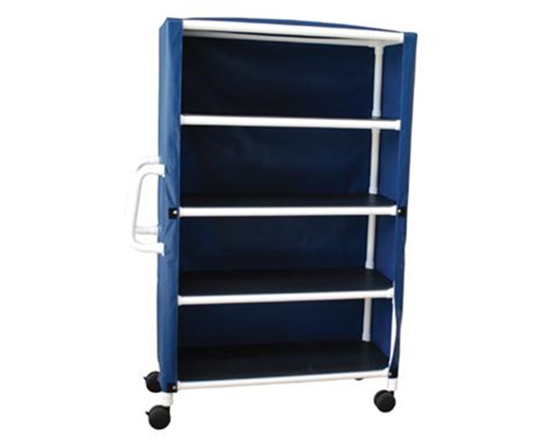 "MJM 325-24-4C-MRI Non-Magnetic 4 Shelf Jumbo 24"" Linen Cart"