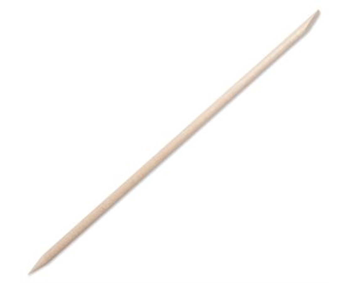 Non-Sterile Wood Cuticle/Orange Stick with Single Bevel and Pointed Ends PUR2925