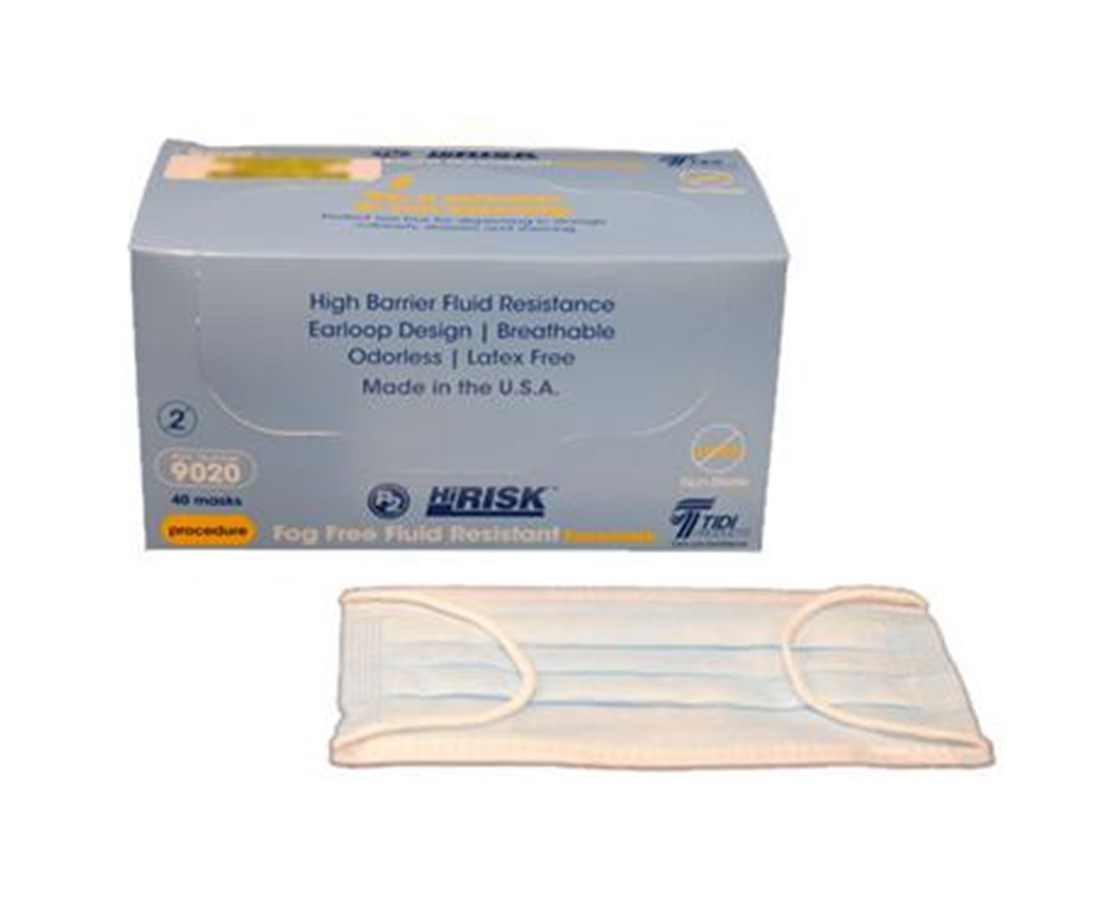 HiRisk High Barrier Fog Free Fluid Resistant Facemask TID9020