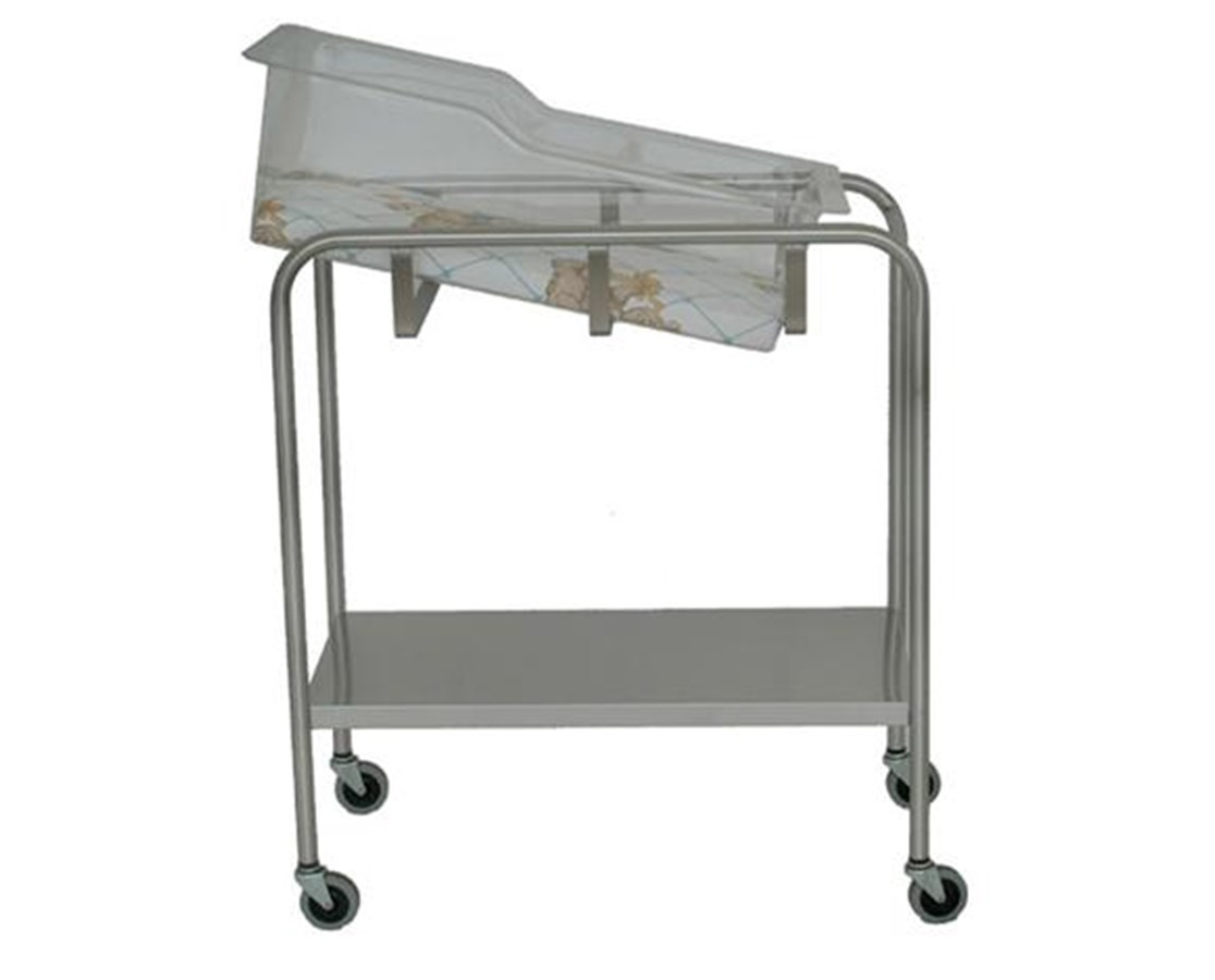 Stainless Steel Bassinet with Shelf UMFSS8538