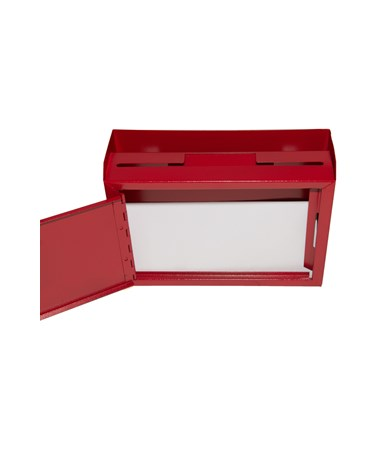 Deluxe Steel Drop Box - Red ADI631-02-RED