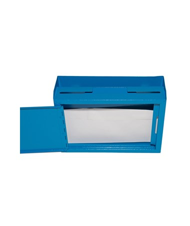 Deluxe Steel Drop Box - Opened Blue  ADI631-02-BLU