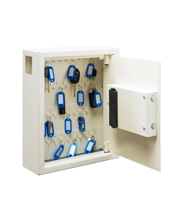 Secure 40 Key Cabinet with Digital Lock ADI680-40-WHI - Interior