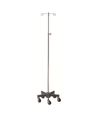 Small Wheel Infusion Pump Stand (2 Ram's Horn Hook)  BRE43416