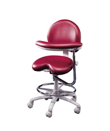Brewer 9000 Series Dental Stool with Seamless Upholstery, Adjustable Foot Ring and Left Body Support