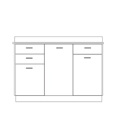 Clintonclean™ Base Cabinet with 3 Doors & 3 Drawers CLI8054-P