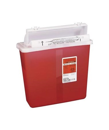 SharpStar™ In-Room™ 	5 Quart, Sharps Containers with Counter Balanced Lid, 	case of 20 KEN8506SA
