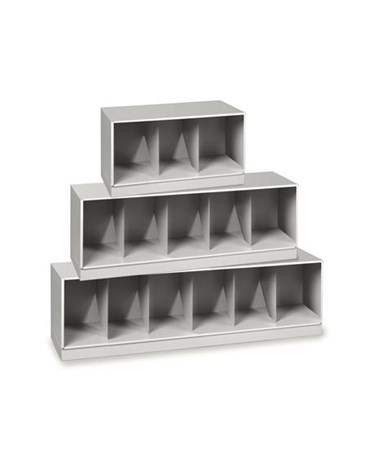 Datum VuStak X-Ray Size Shelving with Straight Tiers (Letter/Legal Size shown)