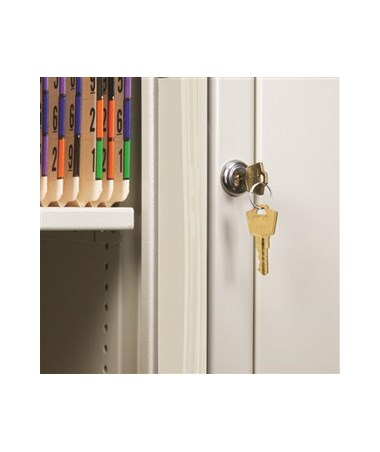 Secure HIPAA-compliant lock and two keys.