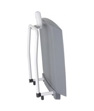DORDS8030- Fold-Up Wheelchair Scale with Dual Ramp, Mast & WIFI Option - Folded Up