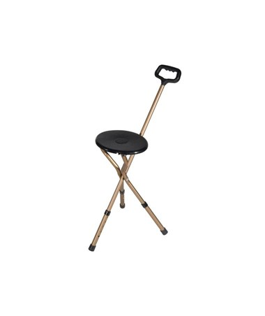 """Drive RTL10365-ADJ Folding Lightweight Cane Seat - Adjustable Height"""