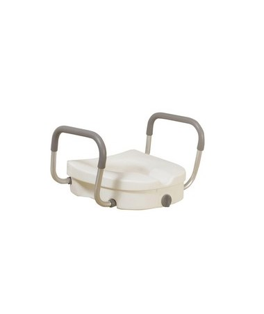 Drive 12008KDR 2-in-1 Locking Raised Toilet Seat