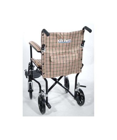 """Drive Deluxe Fly-Weight Aluminum Transport Chair"""
