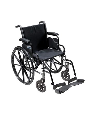 Cruiser III Light Weight Wheelchair with Various Flip Back Arm Styles and Front Rigging Options DRIK316DDA-SF