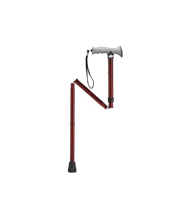 """Drive RTL10370RC Folding Cane - Red Crackle"""
