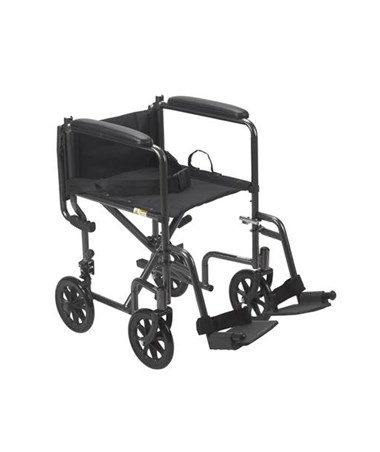Drive Steel Transport Chair - Back Folded