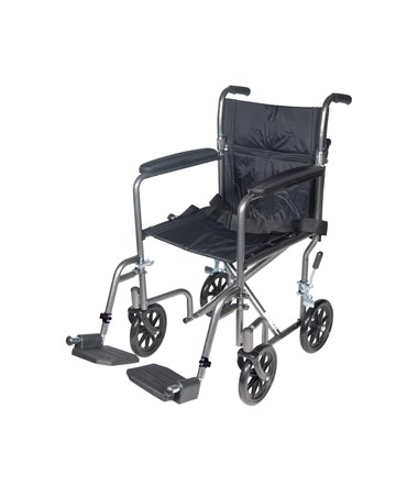 """Drive TR39E-SV Steel Transport Wheelchair"""