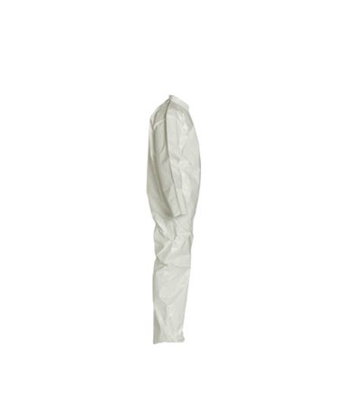 White Tychem SL Coverall with Bound Seams and Zipper Front SL120BWH