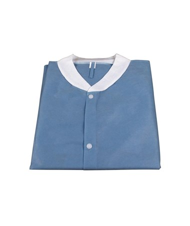 Dynarex #1992, 1993, 1994, 1995, 1996, Lab Coats without Pockets, Dark Blue, Dark Blue 10 per Bag, 30 Bag/Case