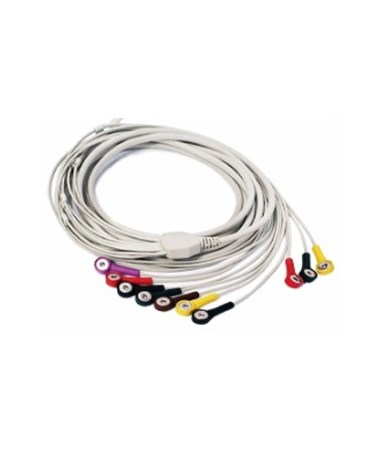 Snap Style ECG Cable for SE-1010 PC Based ECG Machine EDA0157109851