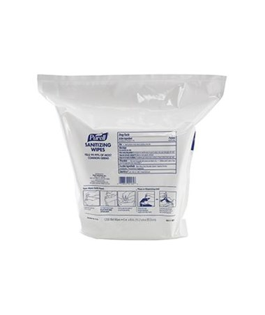 Purell 9118-02 Sanitizing Wipes Refill