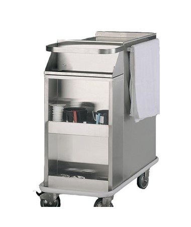Harloff Stainless Steel Side Storage Cabinet for Cast Carts