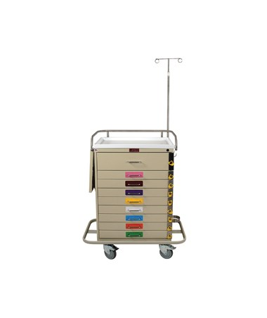 Harloff Classic Nine Drawer Pediatric Resuscitation Cart Specialty Package