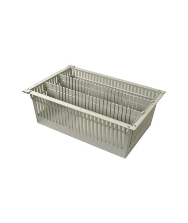 "Harloff 8"" Exchange Tray with 2 Long Dividers for Mobile Medical Storage"