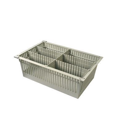 "Harloff 8"" Exchange Tray with 2 Long Dividers and 1 Short Divider for Mobile Medical Storage"