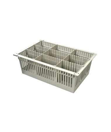 "Harloff 8"" Exchange Tray with 2 Long Dividers and 2 Short Dividers for Mobile Medical Storage"