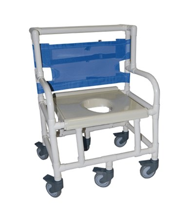 "PVC Shower Chair with Vaccum Formed Seat, 500lb. Weight Capacity - 24"" Width HMPSC6014X500-"