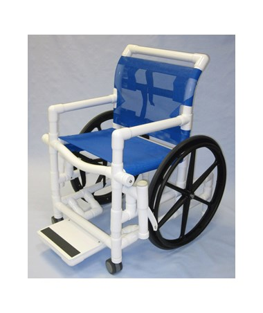 "PVC Shower Wheelchair with Sling Seat - 18"" Width HMPSWC-SLING"