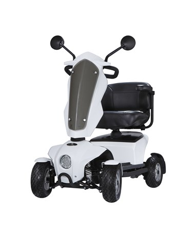 Please note the Vita Mini comes equipped with the full-sized seat pictured in the images of the gray scooter.
