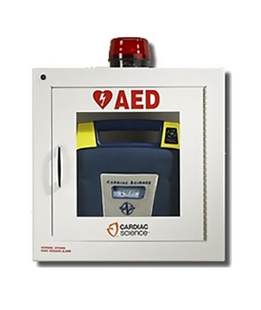 HSMHST-CAB01- AED Wall Cabinet - Semi-Recessed, with Alarm & Strobe