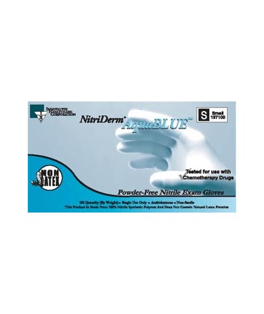 Nitriderm® Aquablue™ Nitrile Gloves IHC197050-