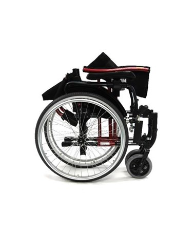 Karman S-Ergo Ultralightweight Wheelchair with Adjustable Seat Height - Folded