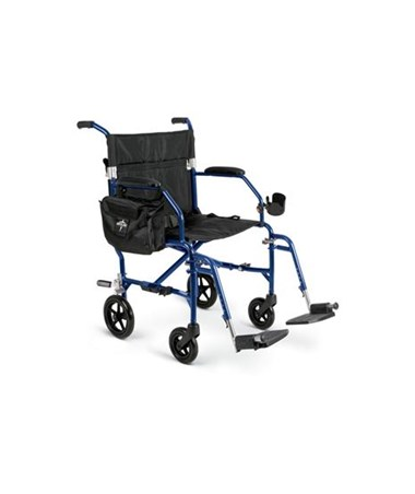 Medline Excel Freedom 2 Transport Chair in Blue