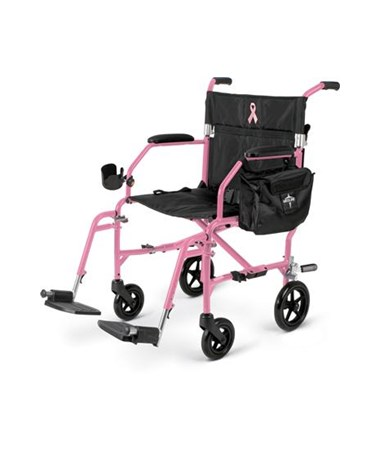 Medline Excel Freedom 2 Transport Chair in Pink