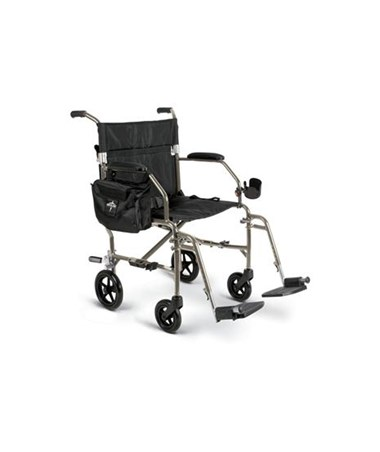 Medline Excel Freedom 2 Transport Chair in Silver