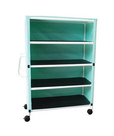 MJM 345-4C-3 Four Shelf Linen Carts